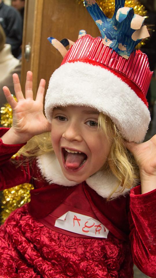 Day 348/1444 - Goofy reindeer at her winter concert.