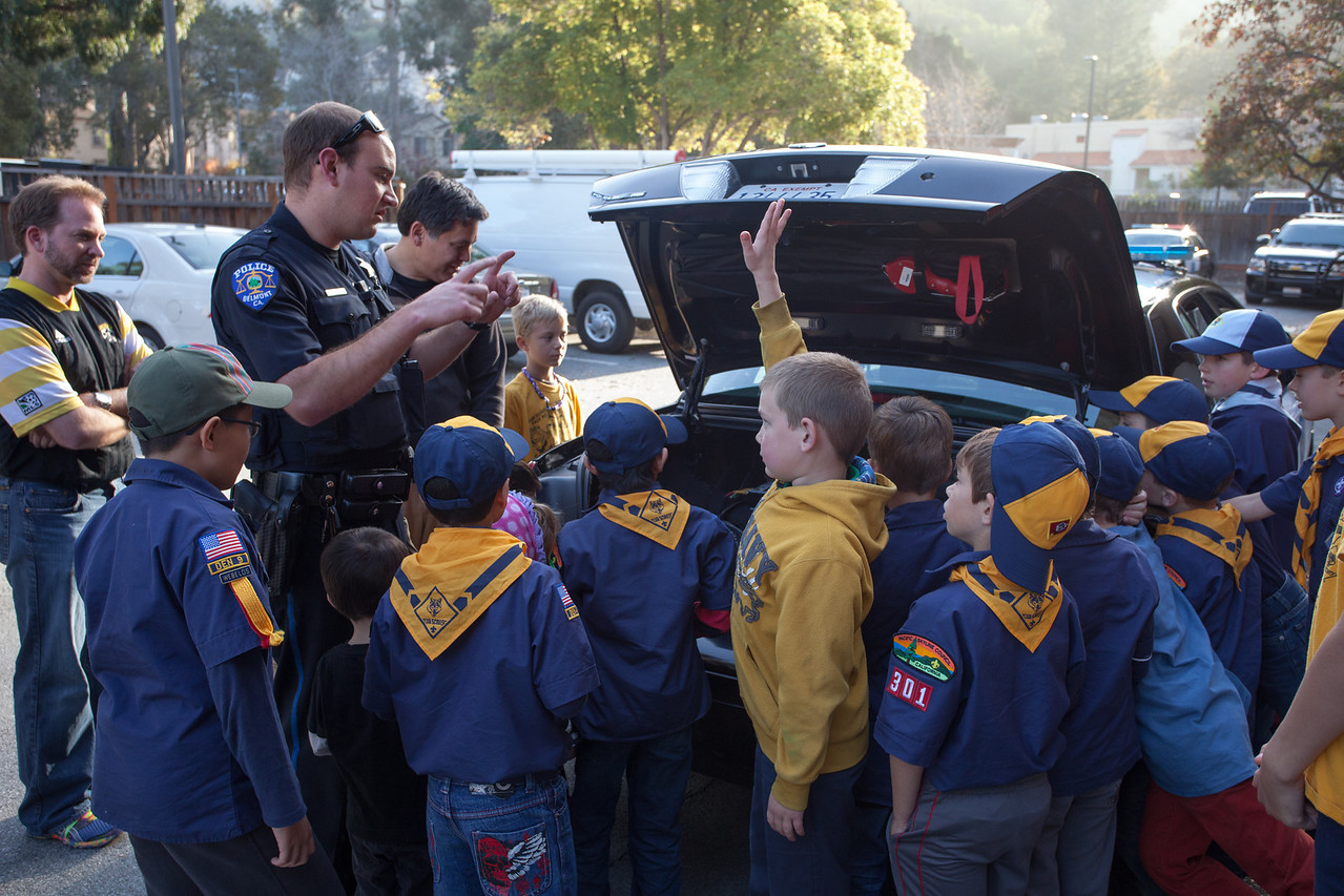 Day 349/1445 - The Scouts got to visit the Belmont Police Department today.