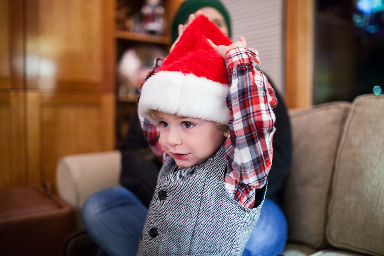 Day 358/1454 - Merry Christmas Eve from our littlest elf.